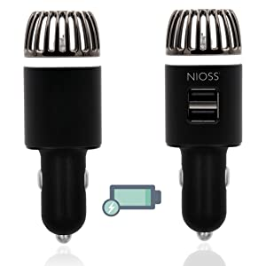 Car Air Purifier Ionizer Freshener USB Charger Smell Smoke Odour Pet Cigarette fast charge
