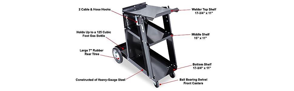 Heavy Duty Large Welding Cabinet Gas ARC MIG Gear Organizer Mobile Cutter Plasma