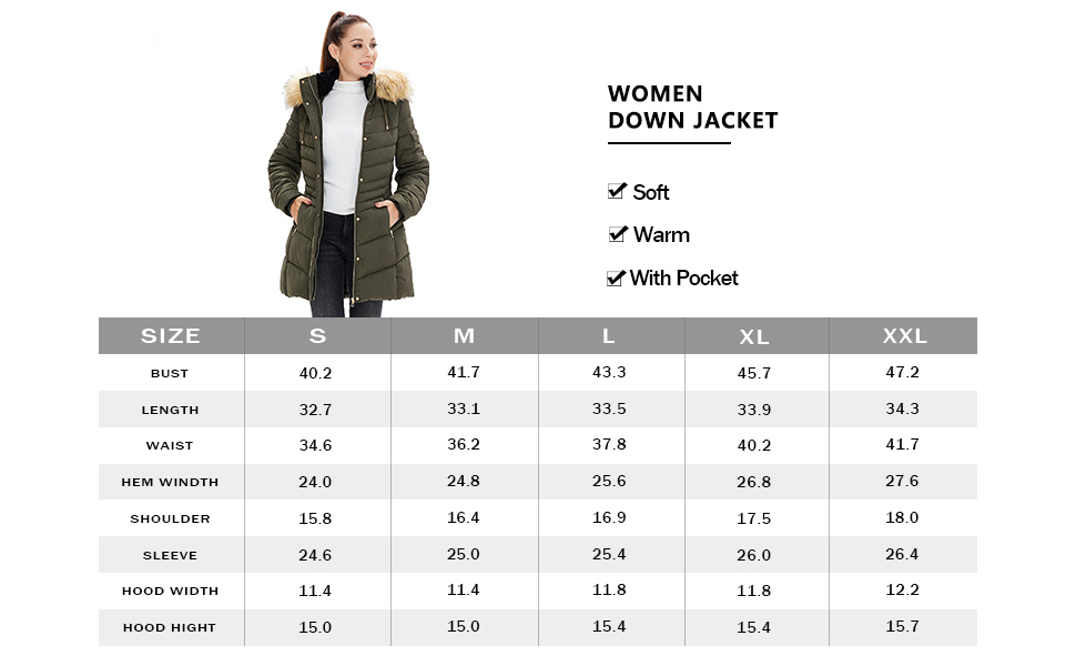 Women's Winter Coats Removable Hood Faux Fur Trim Thicken Solid Down Jacket Puffer Jackets