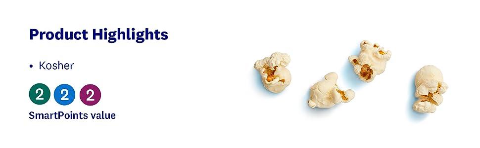 Sea, Salt, Popcorn, Crunchy, Kosher, Snack, Wellness, WW, Healthy, weight loss, SmartPoints, Gluten