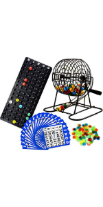 cage with for large groups adults kids board deluxe lottery ball machine