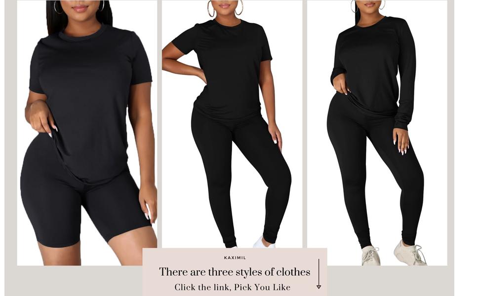 Workout Tracksuit 2 Piece Outfits Long Sleeve Top Legging Jogger Pants Set