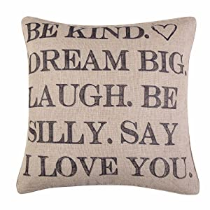 linen pillow words santa fe levtex