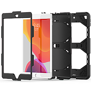 iPad 7th generation 10.2 2019 case with kickstand durable shockproof full body protection