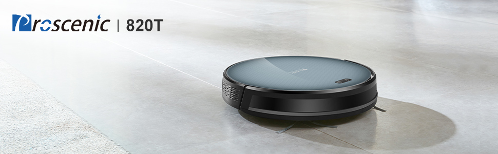proscenic Robot Aspirador 820T con Alexa aspiración y fregasuelos 2 ...