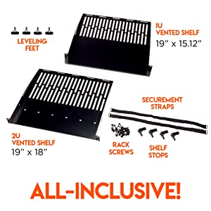 startech.com casters adjustable 4-post audio enclosure istarusa cabinet rolling lite 19 inch 12u 8u