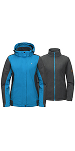 Women's Waterproof 3 in 1 Jacket