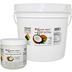 Extra Virgin Organic Coconut 1 lb pot and 8 lb pail microwavable resealable
