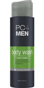 Fragrance free body wash for men and shampoo for men that cleanses, replenishing the skin's moisture