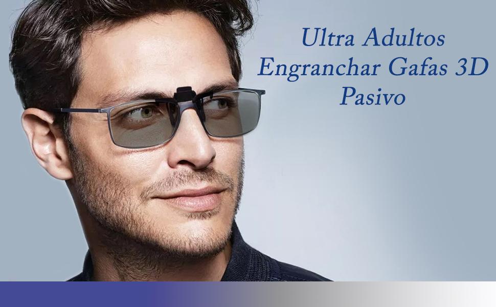 UltraByEasyPeasyStore Ultra 4 Par de Adultos Enganchar Gafas 3D ...