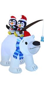 6.5 FT Inflatable Holiday Winter Polar Bear