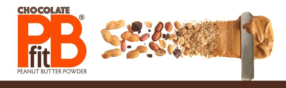 PBfit peanut butter powder header chocolate
