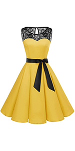vintage floral lace dress yellow for summer dress cocktail lace dress yellow for women plus size
