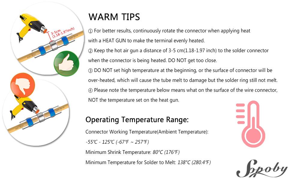heat shrink solder connectors