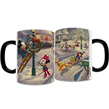 Mickey and Minnie Mouse Victorian Christmas Morphing Mugs Heat Sensitive Color Changing Magic