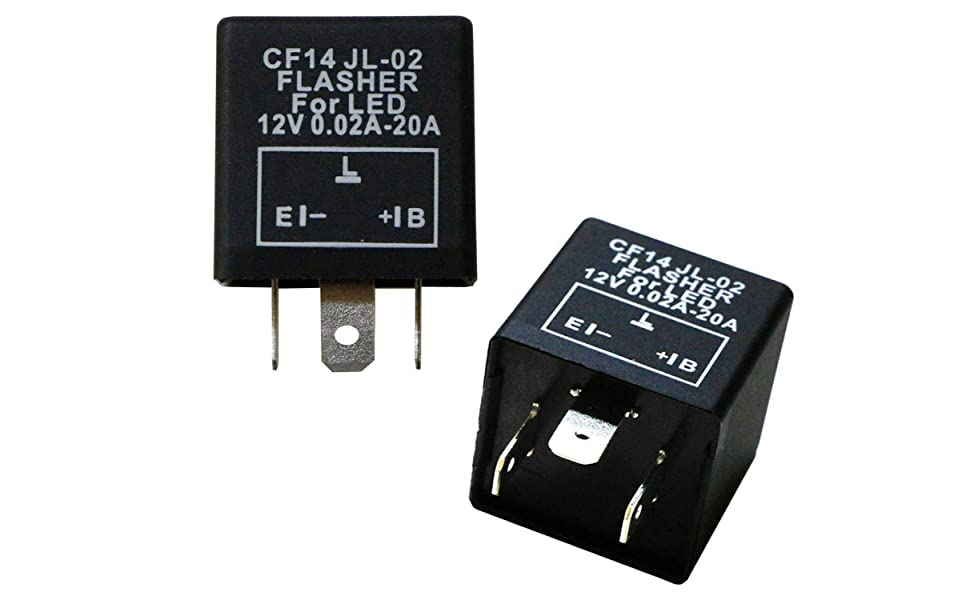 3-Pin CF14 EP35 Electronic LED Flasher Relay For LED Related Turn Signal Bulbs Hyper Flash Fix