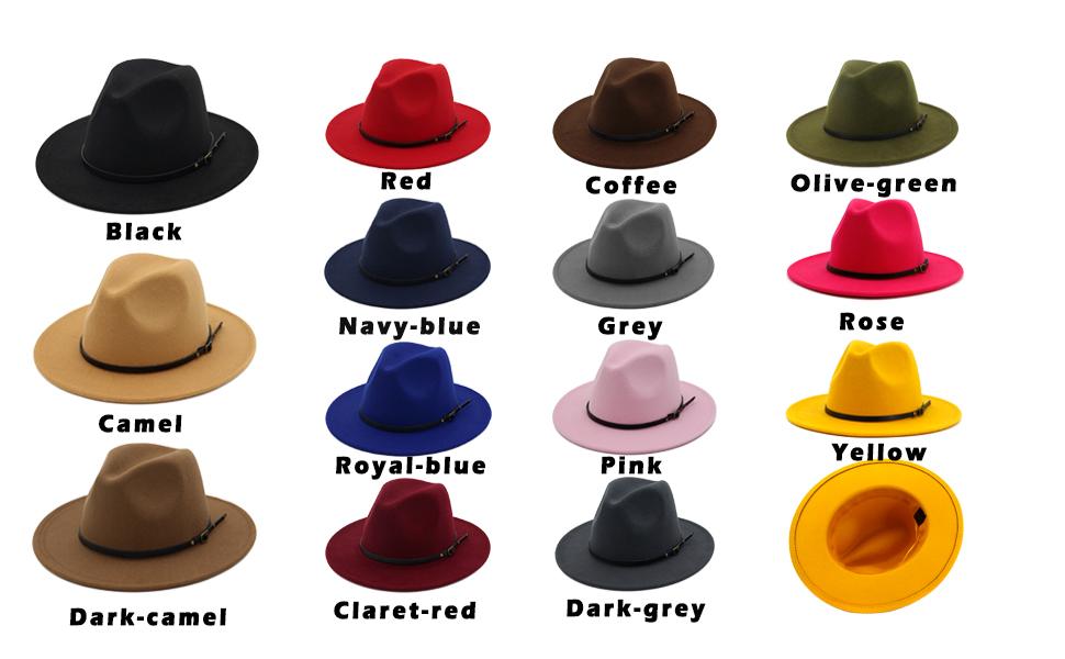 90a9a8332a Lisianthus Women Belt Buckle Fedora Hat