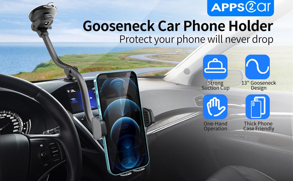 Gooseneck Car Phone Holder