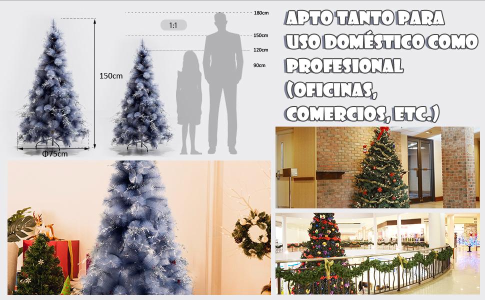 Árbol de Navidad 150cm