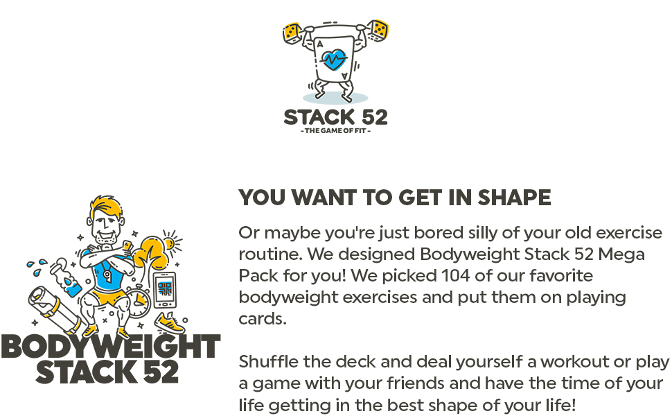 shape exercise routine bodyweight exercises deck play game friends life