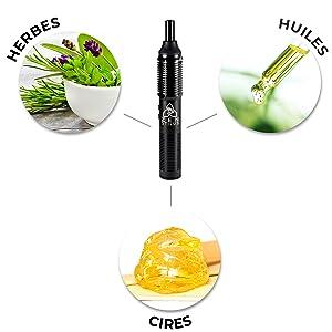 herbes huiles cires