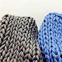 fashion chunky knit throw blankets