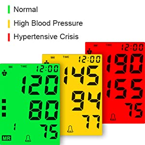 """1  Blood Pressure Monitor for Home Use with Large 3.5"""" LCD Display, Wowgo Digital Upper Arm Automatic Measure Blood Pressure and Heart Rate Pulse with Wide-Range Cuff,Three-Color Backlight Display b84951b7 a8ca 4708 8d76 1ed8654eaf55"""