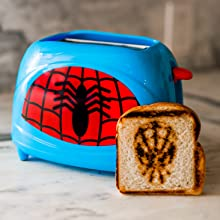 B07Z8D73RC Uncanny Brands Spiderman Two-Slice Toaster- Toasts Spidey onto Your Toast