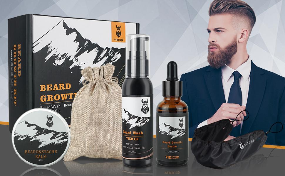 beard growth kit with beard guard