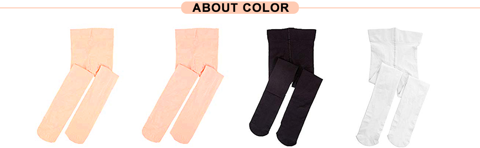 Defrsk 4Pairs Ballet Tights Dance Tights for Girls Dance Ballet Footed Tights for Girls