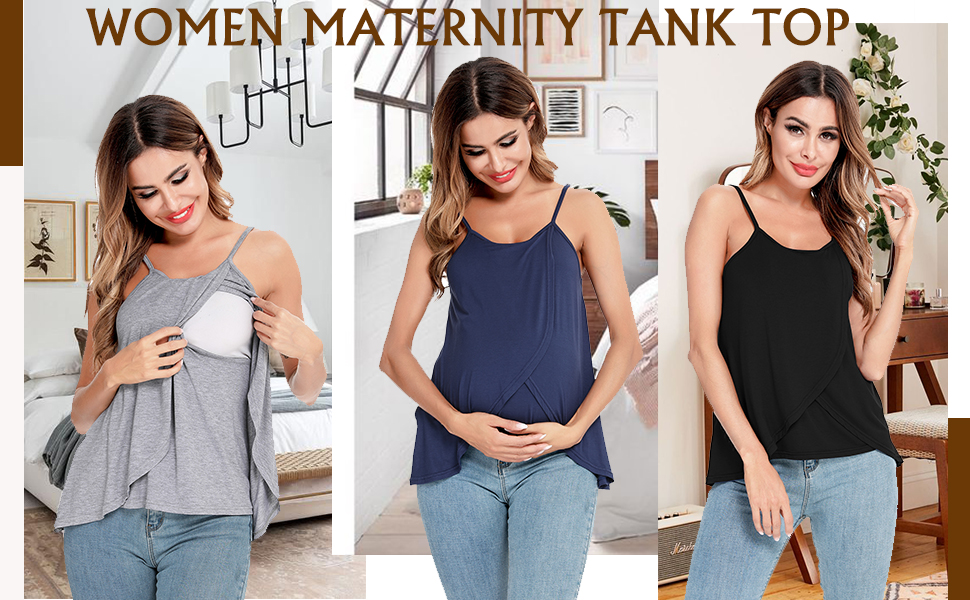 3 in 1 Labor Delivery Maternity Nursing Tank Top