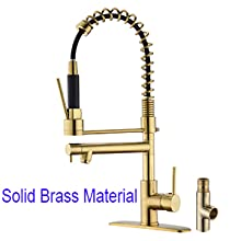 solid brass kitchen faucet