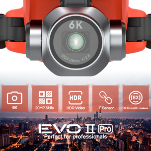 "Autel Robotics EVO 2 Pro 6K Drone Quadcopter- 6K 20MP HDR 1"" Sensor 4X Lossless Zoom"