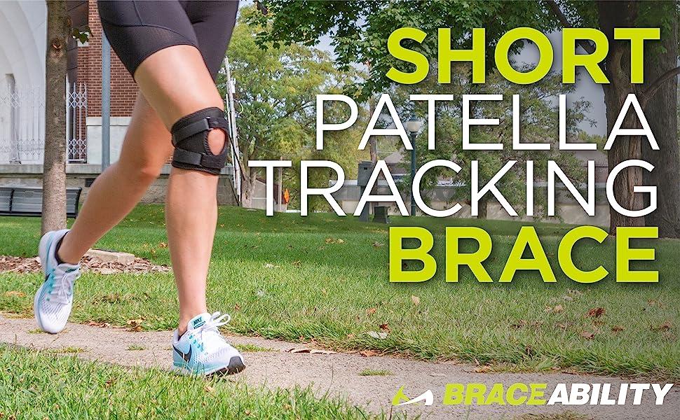 short patella tracking brace to help prevent runners knee pain