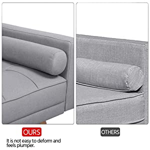 Fabric Padded Sofabed 3 Seater