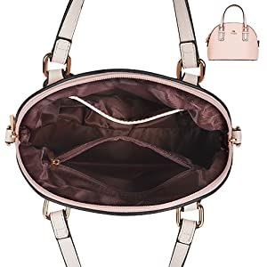 PU leather handbags with crossbody shoulder straps