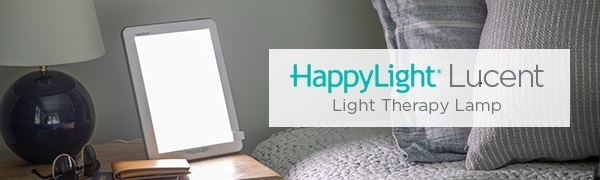 HappyLight bright white LED light therapy lamp 10000 lux full spectrum