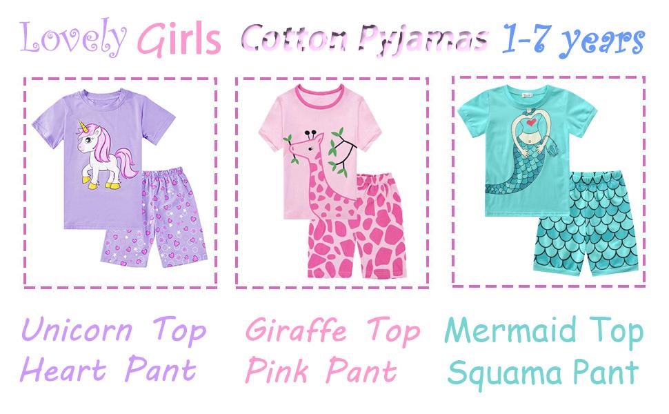 girls pyjamas unicorn pyjamas rabbit pyjamas toddler pyjamas pjs kids pajamas