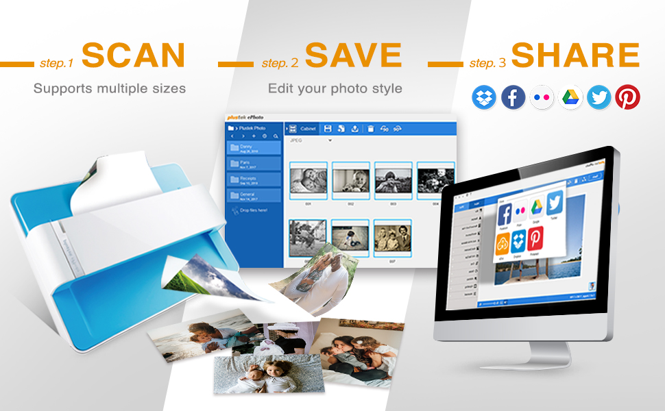 Scan - Save - Share. Simple as that!