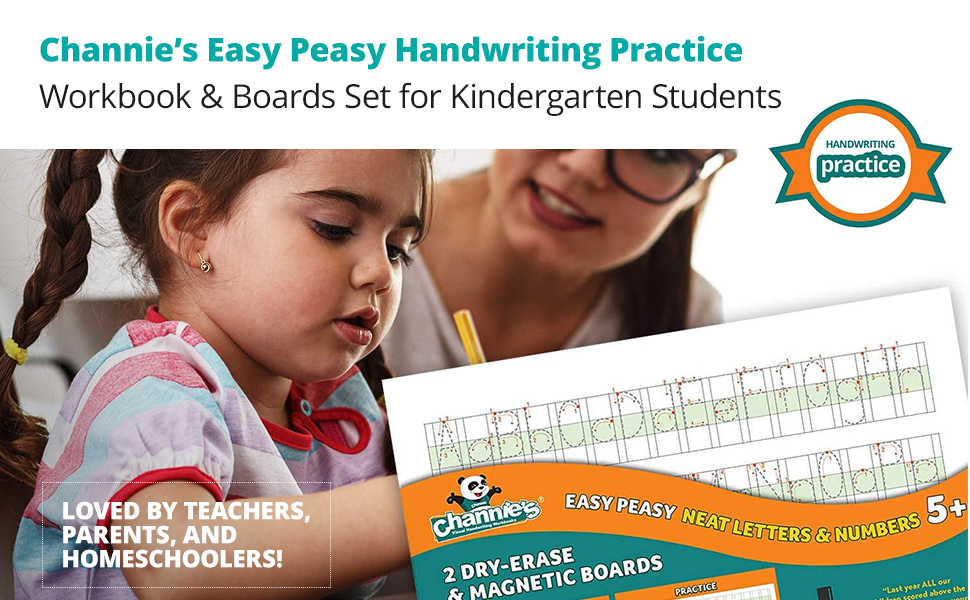 Easy Peasy Handwriting Practice Workbook & Boards