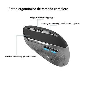 JOYACCESS Teclado y Ratón Inalámbrico Español Teclado QWERTY Inalámbrico,Compacto, Ergonómico,con Teclado Numérico,Ratón Inalámbrico de PC y ...