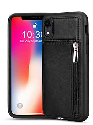 iphone xr wallet case and screen protector for women