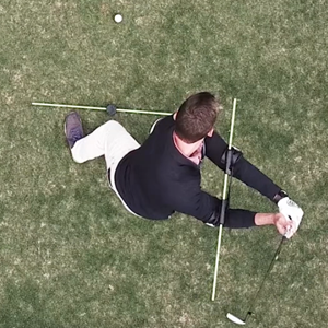top down golf alignment set up