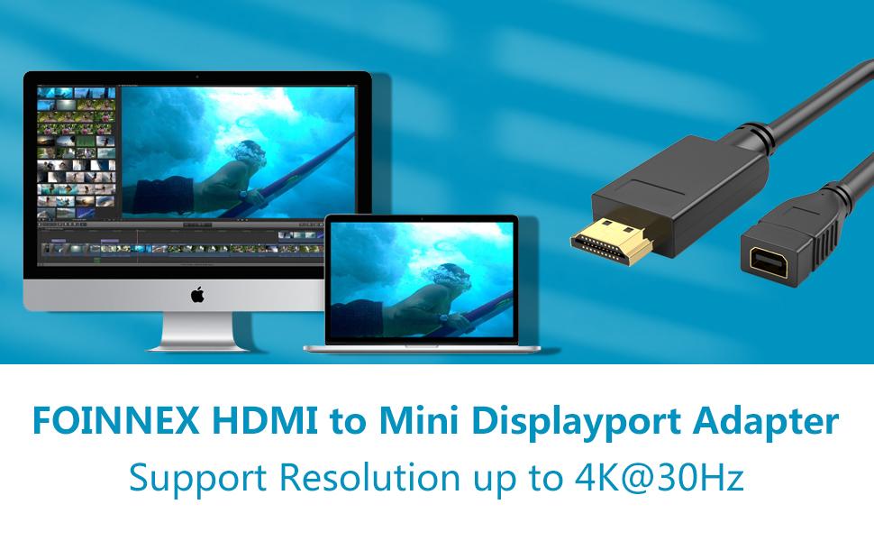 Macbook Laptop Monitor schwarz Mini Displayport HDMI Adapter für TV