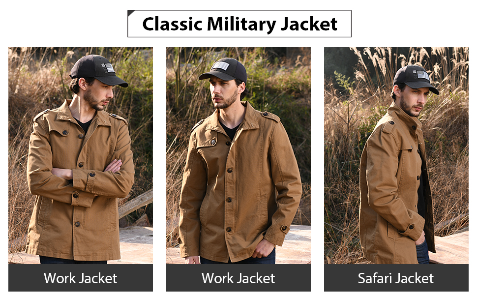 Men's Military Style Fall Jacket
