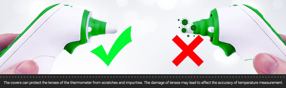 protect the lenses of the thermometer from scratches and impurities