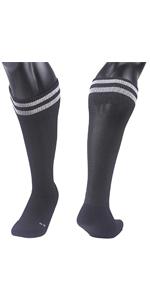 Lian LifeStyle Boys 1 Pair Knee Length Sports Socks for Baseball//Soccer//Lacrosse XL003 XXS Black