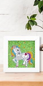 Unicorn diamond painting