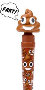 poop emoji farting pen kids children boys girls funny stuffed party supplies fart toy poo kids girls