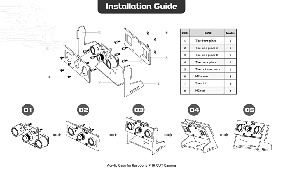 Acrylic case installation guide